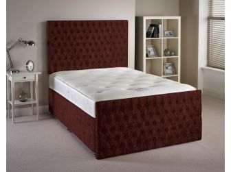 Mulberry Aspire Provincial Velvet Fabric Divan Set with Headboard and Footboard UK Made