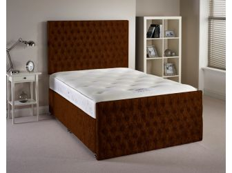 Truffle Aspire Provincial Velvet Fabric Divan Set with Headboard and Footboard UK Made