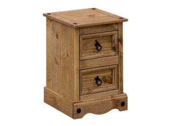 2 Drawer Bedside Chest In Waxed Pine CR509