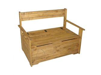 Pine Bed Seat With Storage CR913