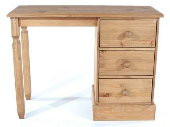 Single Pedestal Dressing Table In Pine CT318
