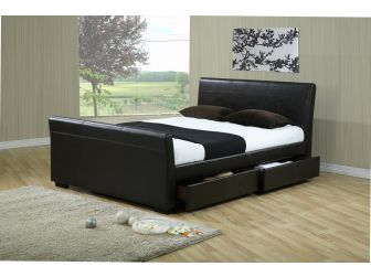 Faux Leather Bed Frame - HOUSTON