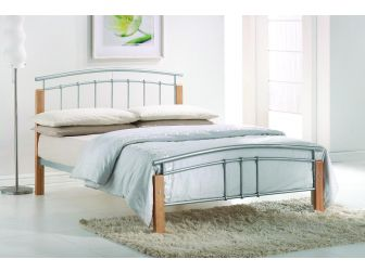 Curved Wood And Metal Bed Frame TETRAS