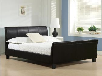 Faux Leather Bed Frame WINCHESTER