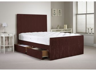 Mulberry Aspire Hampshire Velvet Divan Set With Headboard and Footboard