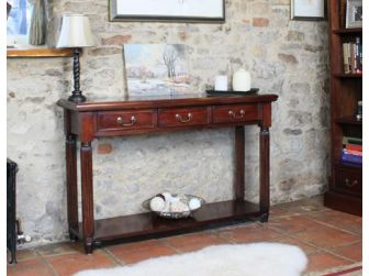 Solid Mahogany Hall Console Table IMR02C