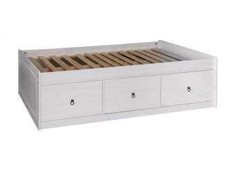 White Cabin Bed with Built in Drawers - CRW800