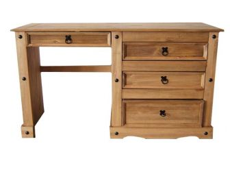Mexican Pine 3 Drawer Dressing Table ACA-DRESS-TABLE