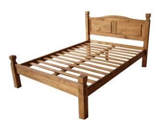 Mexican Pine Wooden Bed Frame ACA-PINE-BED