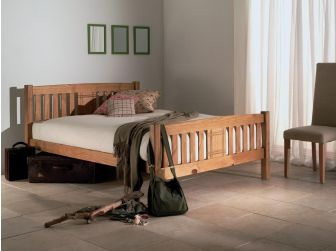 Wooden Bed Frame With Engraved Pattern SEDNA