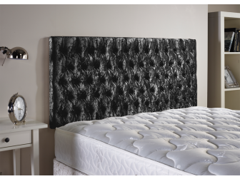 Black Aspire Neon Velvet Fabric Headboard UK Made