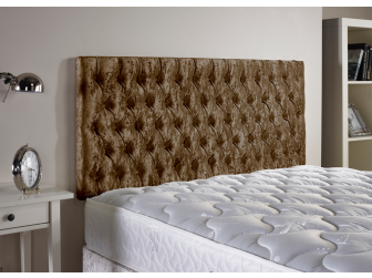 Brown Aspire Neon Velvet Fabric Headboard UK Made