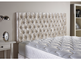 Cream Aspire Neon Velvet Fabric Headboard UK Made