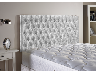Silver Aspire Neon Velvet Fabric Headboard UK Made