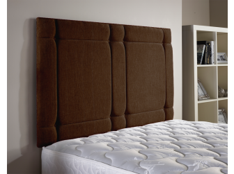 Brown Aspire Universal Chenille Fabric Headboard UK Made