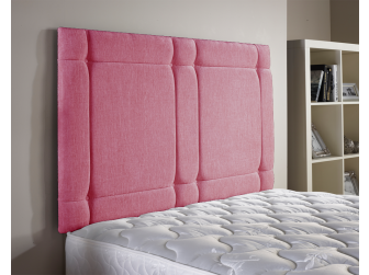 Pink Aspire Universal Chenille Fabric Headboard UK Made