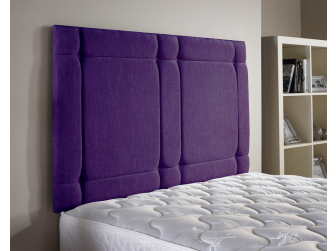 Purple Aspire Universal Chenille Fabric Headboard UK Made