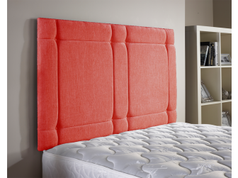Red Aspire Universal Chenille Fabric Headboard UK Made
