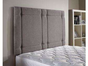 Silver Aspire Universal Chenille Fabric Headboard UK Made