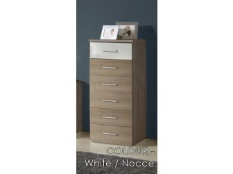 6 Drawer Narrow Chest In 7 Colours GAMMA-318