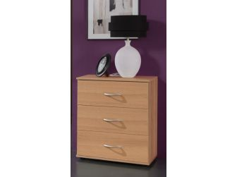 3 Drawer Chest In Beech Finish LOGO-712