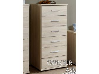6 Drawer Chest 460mm Wide In 7 Colours OMEGA-318