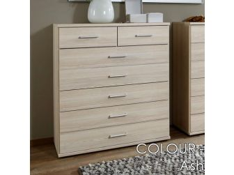 7 Drawer Chest 900mm Wide In 7 Colours OMEGA-319